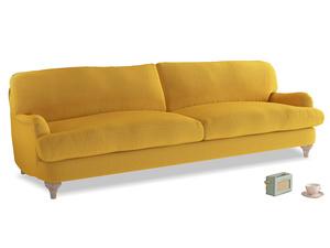 Extra large Jonesy Sofa in Pollen Clever Deep Velvet