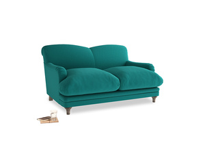 Small Pudding Sofa in Indian green Brushed Cotton
