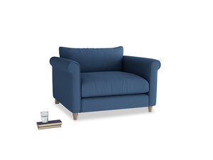 Weekender Love seat in True blue Clever Linen