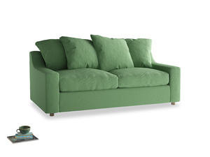 Medium Cloud Sofa in Clean green Brushed Cotton