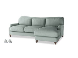 XL Left Hand  Pavlova Chaise Sofa in Sea fog Clever Woolly Fabric