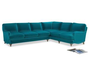 Xl Right Hand Jonesy Corner Sofa in Pacific Clever Velvet