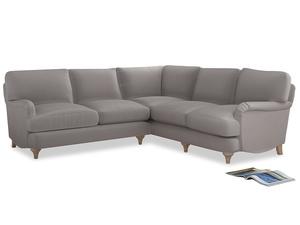 Even Sided Jonesy Corner Sofa in Mouse grey Clever Deep Velvet