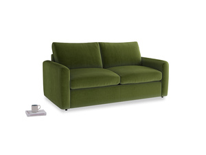 Chatnap Sofa Bed in Good green Clever Deep Velvet with both arms
