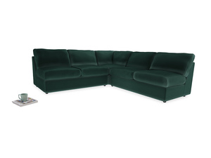 Even Sided  Chatnap modular corner storage sofa in Dark green Clever Velvet