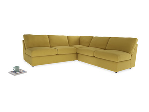 Even Sided  Chatnap modular corner storage sofa in Maize yellow Brushed Cotton