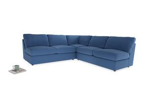 Even Sided  Chatnap modular corner storage sofa in English blue Brushed Cotton