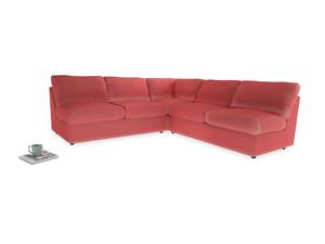 Even Sided  Chatnap modular corner storage sofa in Carnival Clever Deep Velvet