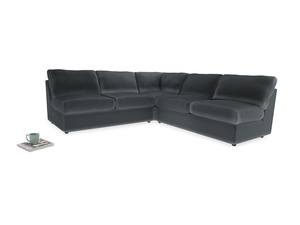 Even Sided  Chatnap modular corner storage sofa in Dark grey Clever Deep Velvet