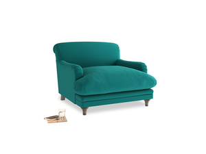 Pudding Love seat in Indian green Brushed Cotton