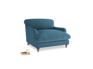 Pudding Love seat in Old blue Clever Deep Velvet