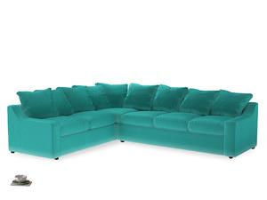 Xl Left Hand Cloud Corner Sofa in Fiji Clever Velvet