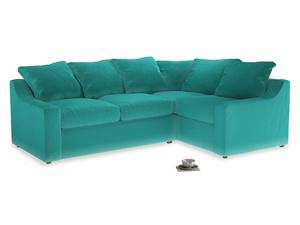 Large Right Hand Cloud Corner Sofa in Fiji Clever Velvet