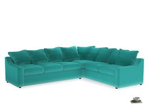 Xl Right Hand Cloud Corner Sofa in Fiji Clever Velvet