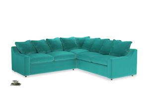 Even Sided Cloud Corner Sofa in Fiji Clever Velvet