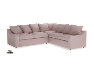 Even Sided Cloud Corner Sofa in Potter's pink Clever Linen