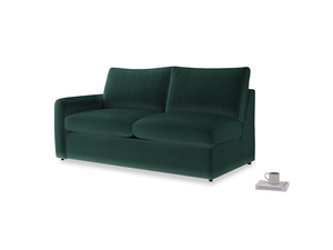 Chatnap Sofa Bed in Dark green Clever Velvet with a left arm
