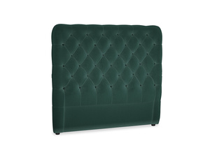 Double Tall Billow Headboard in Dark green Clever Velvet