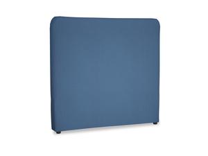 Double Ruffle Headboard in True blue Clever Linen
