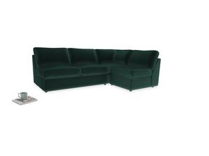 Large right hand Chatnap modular corner storage sofa in Dark green Clever Velvet