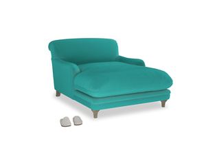 Pudding Love seat chaise in Fiji Clever Velvet