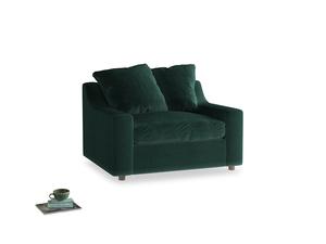 Cloud Love seat in Dark green Clever Velvet