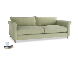 Extra large Weekender Sofa in Old sage washed cotton linen