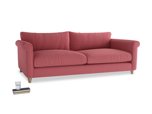 Extra large Weekender Sofa in Raspberry brushed cotton