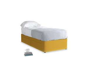 Single Tight Space Storage Bed in Pollen Clever Deep Velvet