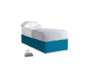 Single Tight Space Storage Bed in Bermuda Brushed Cotton