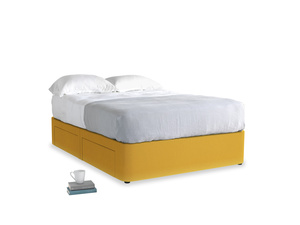 Double Tight Space Storage Bed in Pollen Clever Deep Velvet