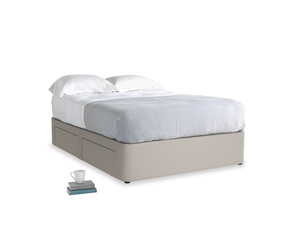 Double Tight Space Storage Bed in Sailcloth grey Clever Woolly Fabric