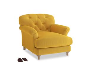 Truffle Armchair in Pollen Clever Deep Velvet