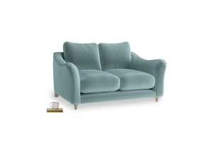 Small Bumpster Sofa in Lagoon clever velvet