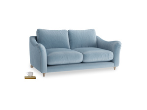 Medium Bumpster Sofa in Chalky blue vintage velvet