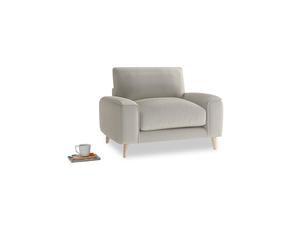 Strudel Armchair in Smoky Grey clever velvet