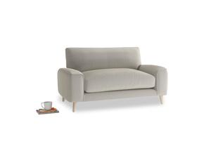 Strudel Love Seat in Smoky Grey clever velvet