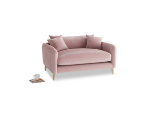 Squishmeister Love Seat in Chalky Pink vintage velvet