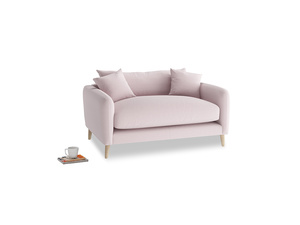 Squishmeister Love Seat in Dusky blossom washed cotton linen