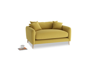 Squishmeister Love Seat in Maize yellow Brushed Cotton