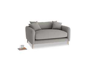 Squishmeister Love Seat in Marl grey clever woolly fabric