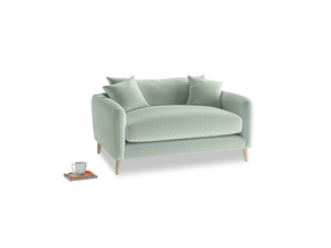 Squishmeister Love Seat in Mint clever velvet