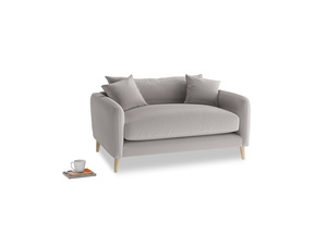 Squishmeister Love Seat in Mouse grey Clever Deep Velvet