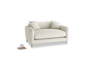 Squishmeister Love Seat in Oat brushed cotton