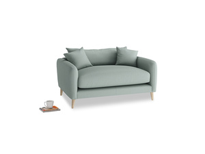 Squishmeister Love Seat in Sea fog Clever Woolly Fabric