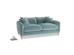 Small Squishmeister Sofa in Lagoon clever velvet