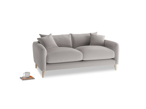 Small Squishmeister Sofa in Mouse grey Clever Deep Velvet