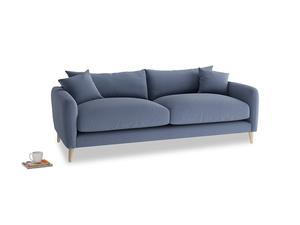 Medium Squishmeister Sofa in Breton blue clever cotton