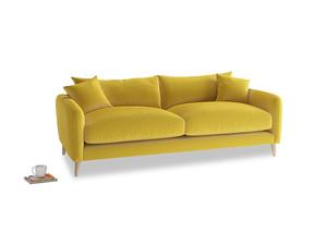 Medium Squishmeister Sofa in Bumblebee clever velvet
