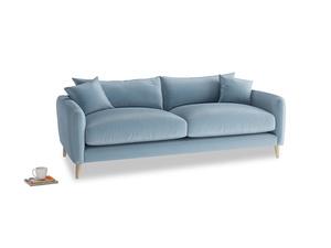 Medium Squishmeister Sofa in Chalky blue vintage velvet